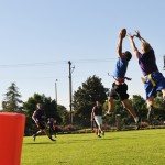 Flag football kicks off