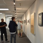 Student art pieces on display in Lancer Gallery