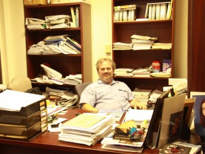 Mercedes Lebron -- Jim Buchholz, professor of mathematics and physics, said he just cleaned his office.