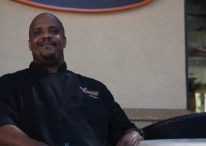 Jacob Armstrong -- Chris Stanley, sous chef for Brisco's Village Cafe, enjoys cooking and conversation.
