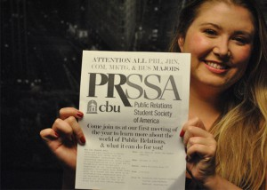 Sarah Jane O'Keefe --   Cristin massey, senior public relations major, is the president of CBU's PRSSA Chapter.