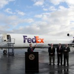FedEx Express donates Boeing 727-200F to CBU Aviation Science Department