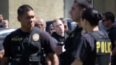 Riverside police arrest a young Caucasian man March 14 outside a Colony apartment. No students or personnel were harmed during the incident.