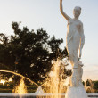 Fortuna Fountain, a statue created in the likeness of the Greek goddess of fortune and luck, stands tall as an iconic symbol of CBU culture, history and community. Connor Schuh | Banner