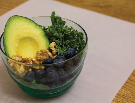 Superfoods such as avocados, blueberries, walnuts and kale give a boost of energy and protein needed to help academic performance and productivity. Madison DeGenner   Banner