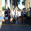 Participants prepare for the Lancer 5000 race at the start line on Palm Drive at California Baptist University Feb. 14. Hosted by the CBU cross-country team, runners included CBU students, Riverside citizens and high school students. Krysta Hawkins | Banner