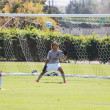 Courtesy of CBU Athletics Noah Oyler, sophomore business administartion major and men's soccer team goalkeeper, tries to prevent the ball from getting past him and into the net during a game in the fall season. Oyler received the PacWest Defender of the Week honor and was named the Altura Credit Union Athlete of the Week. Oyler has focused this season on maintaining composure between the posts.