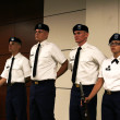 Makenna Sones | Banner From right: Cadet Bryanna Mora stants with Color Guard Joel Powell, Caleb Fink and Kendall Morris at the Sept.11 memorial dinner in Innovator's Auditorium.