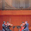 Lauren Shelburne | Banner Jason Uyeyama, violinist and associate professor of music and director of string studies at La Sierra University, was joined by violinist Jin-Shan Dai, violinist Ben Ullery and cellist Tao Ni with the Los Angeles Philharmonic.