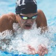Conner Schuh | Banner Alena Rumiancteva, junior international studies major, swims in the Jan. 16 meet against the University of California, San Diego. Rumiantceva stayed undefeated in her events.