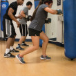 Lauren Shelburne | Banner Traivon Williams, senior music education major, trains Danica Kinne, sophomore anthropology and psychology double major, in his Boxing Bootcamp class.
